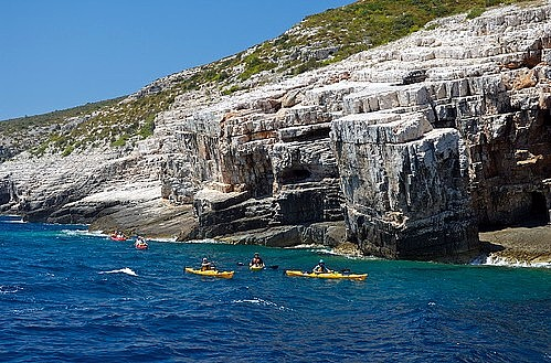 Cliffs on the south of the island Vis