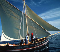 Traditionelle Boot Falkusa